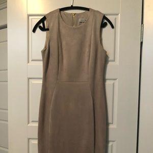 Calvin Klein dress. Faux suede dress. Size 6